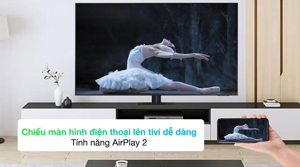 Smart Tivi QLED 4K 65 inch Samsung QA65Q70A tính năng AirPlay 2