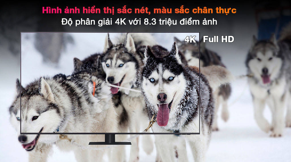 Smart Tivi QLED 4K 75 inch Samsung QA75Q70A - Độ phân giải 4K