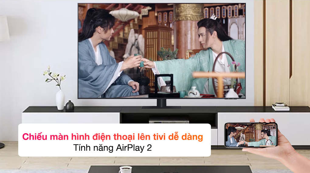 Smart Tivi QLED 4K 75 inch Samsung QA75Q70A - AirPlay2