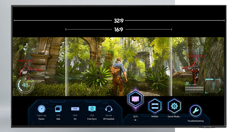 Smart Tivi QLED 4K 75 inch Samsung QA75Q70A - Game Bar