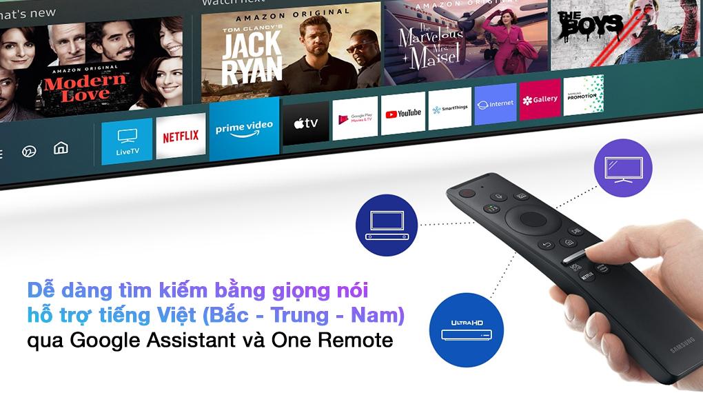 Smart Tivi QLED 4K 85 inch Samsung QA85Q70A  - One Remote
