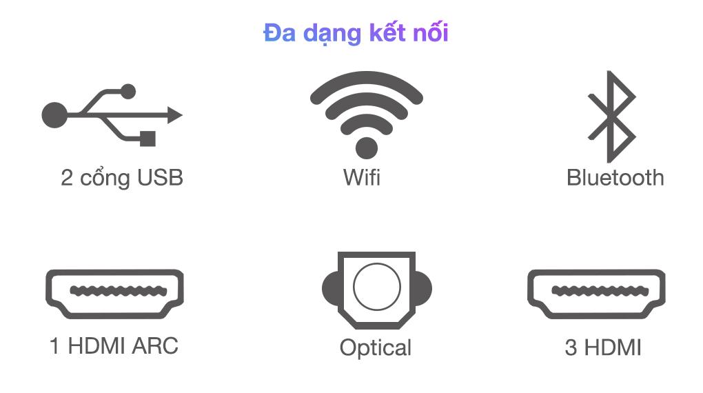 Smart Tivi QLED 4K 85 inch Samsung QA85Q70A  - Cổng kết nối