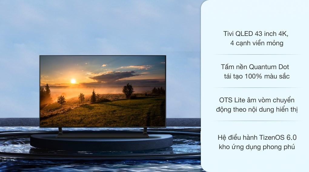 Smart Tivi QLED 4K 43 inch Samsung QA43Q65A