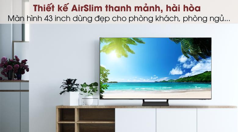 Smart Tivi QLED 4K 43 inch Samsung QA43Q65A - Thiết kế