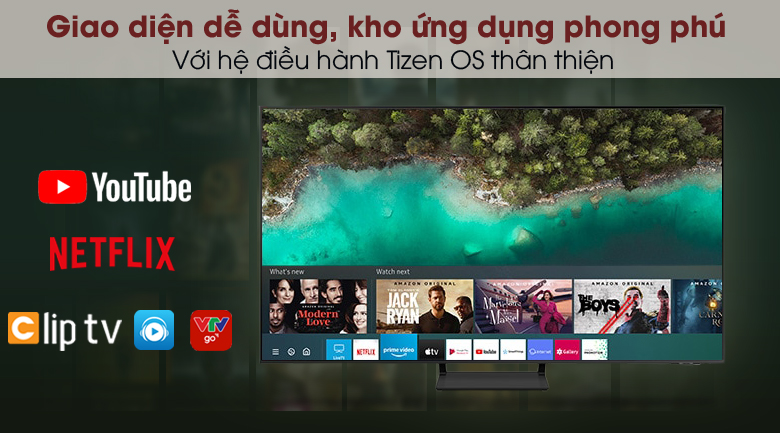 Smart Tivi QLED 4K 43 inch Samsung QA43Q65A - Hệ điều hành