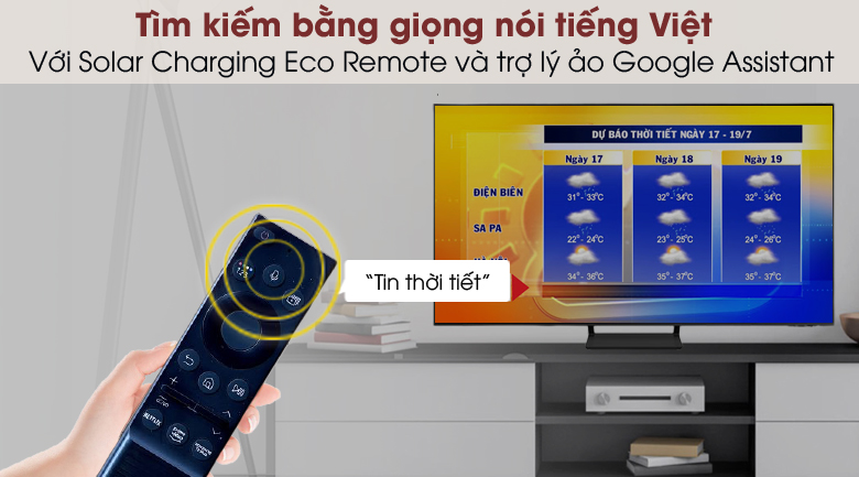 Smart Tivi QLED 4K 43 inch Samsung QA43Q65A - Remote