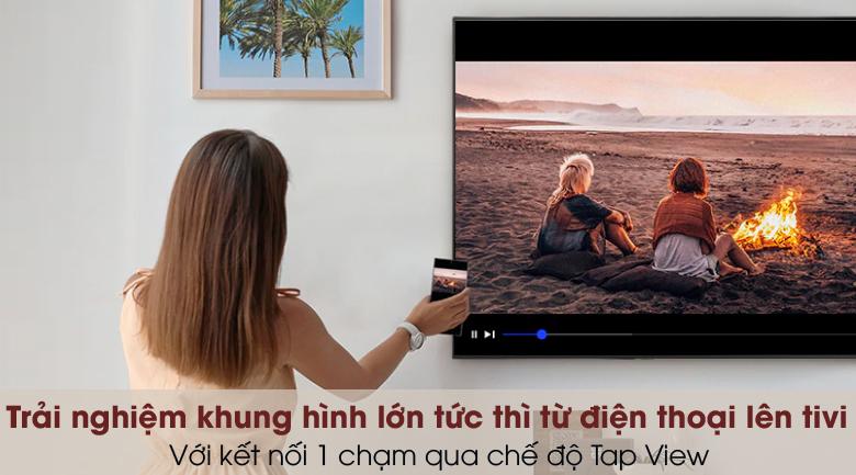 Smart Tivi QLED 4K 43 inch Samsung QA43Q65A - Tap View