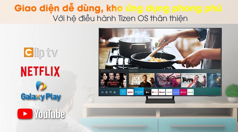 Hệ điều hành Tizen OS - Smart Tivi QLED 4K 50 inch Samsung QA50Q65A
