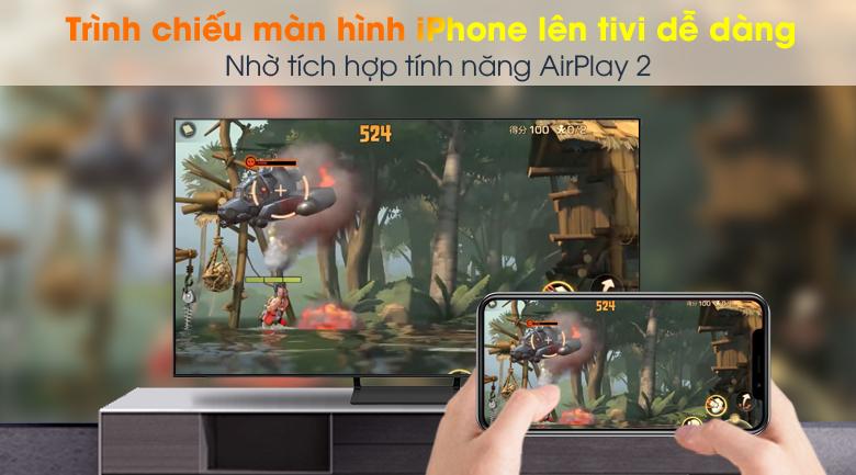 AirPlay 2 (thiết bị Apple) và Tap View (Samsung) - Smart Tivi QLED 4K 50 inch Samsung QA50Q65A