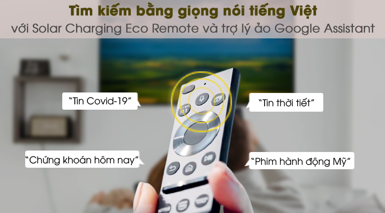 One Remote và Google Assistant - Smart Tivi QLED 4K 55 inch Samsung QA55Q65A