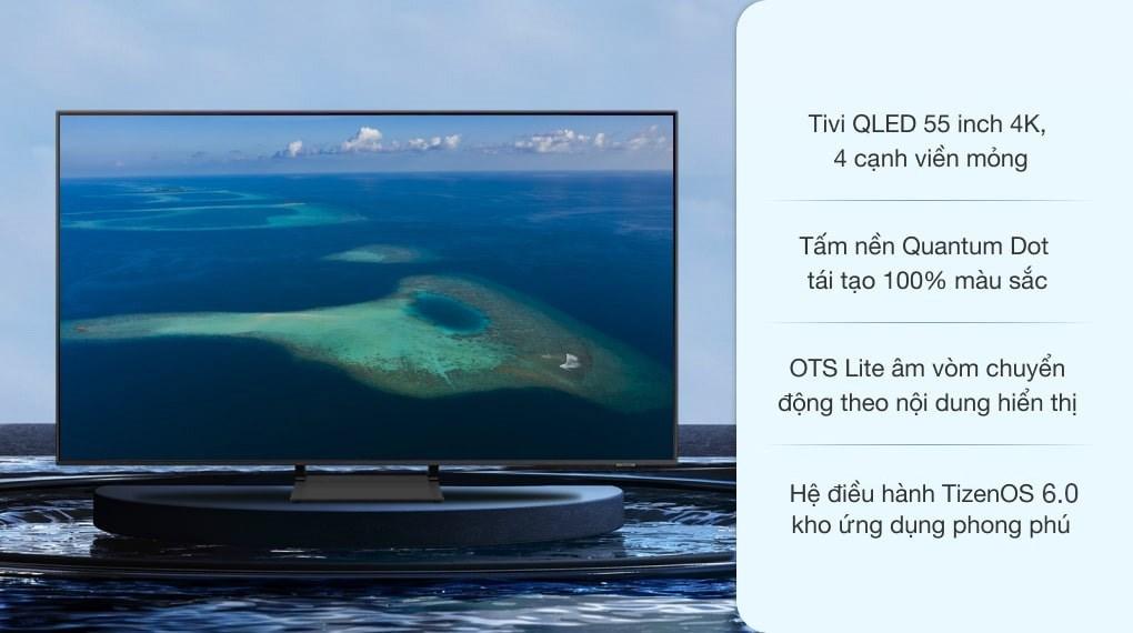 Smart Tivi QLED 4K 55 inch Samsung QA55Q65A