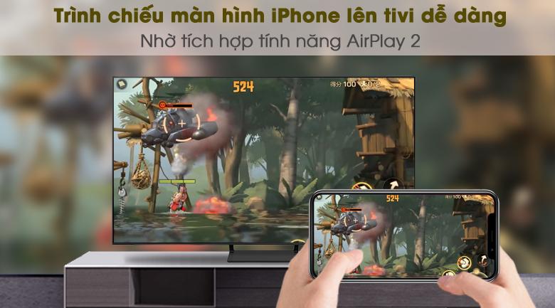 AirPlay 2 (thiết bị Apple) và Tap View (Samsung) - Smart Tivi QLED 4K 55 inch Samsung QA55Q65A