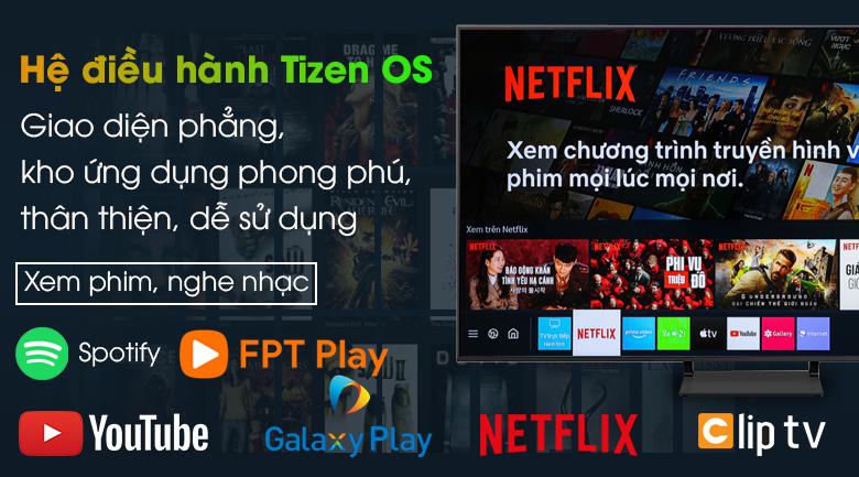 Smart Tivi QLED 4K 75 inch Samsung QA75Q65A - Hệ điều hành Tizen OSSmart Tivi QLED 4K 75 inch Samsung QA75Q65A - Hệ điều hành Tizen OS