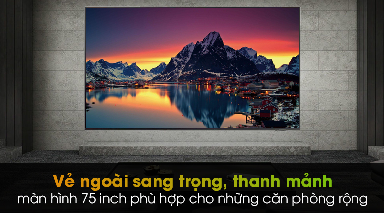 Smart Tivi QLED 4K 75 inch Samsung QA75Q65A - Thiết kế thanh mảnh