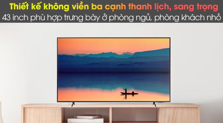Thiết kế - Smart Tivi Samsung 4K 43 inch UA43AU8100