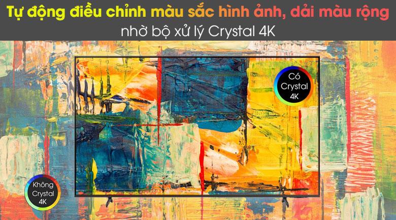 Bộ xử lý Crystal 4K - Smart Tivi Samsung 4K 43 inch UA43AU8100