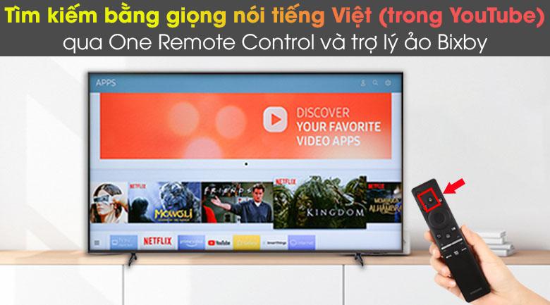 One Remote Control và trợ lý ảo Bixby - Smart Tivi Samsung 4K 43 inch UA43AU8100