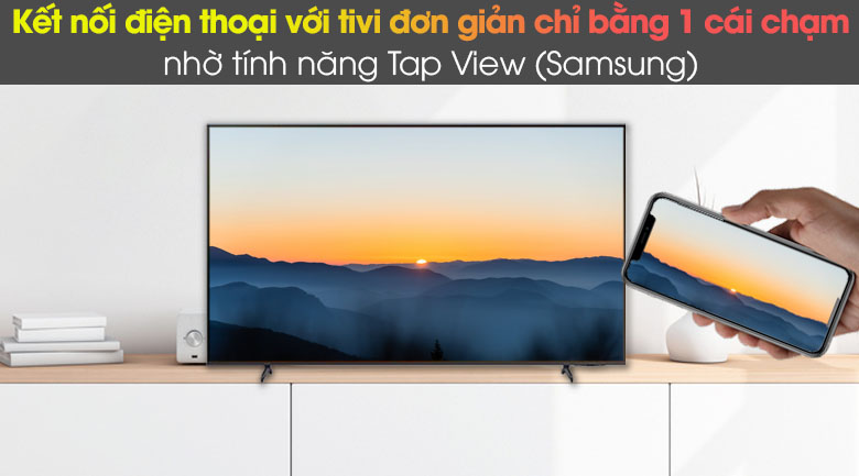 Tap View, AirPlay 2, và Screen Mirroring - Smart Tivi Samsung 4K 43 inch UA43AU8100
