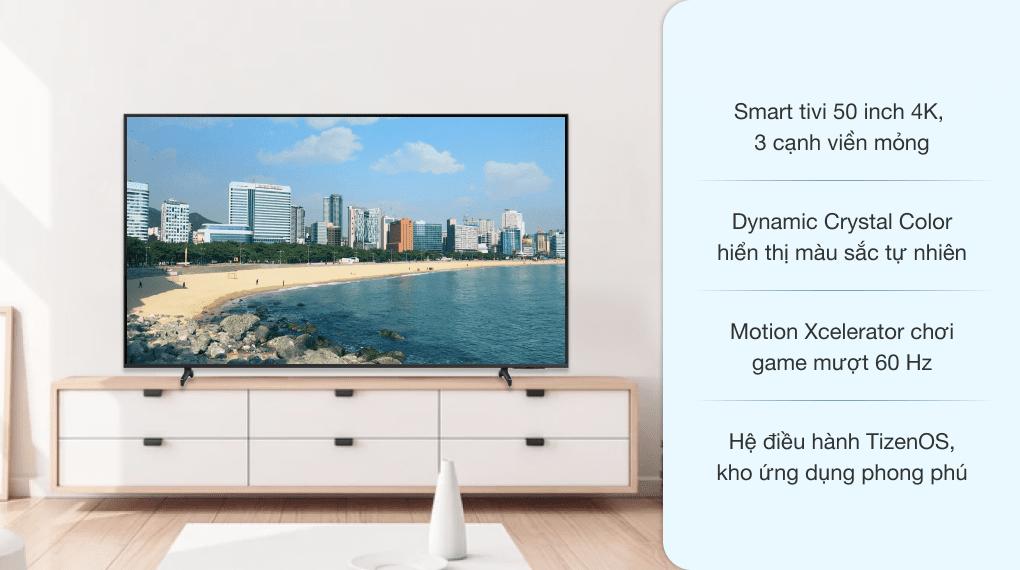 Smart Tivi Samsung 4K 50 inch UA50AU8100