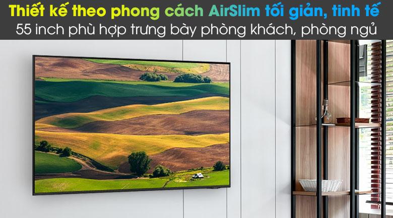 Tivi LED 4K Samsung UA55AU8100 - Thiết kế