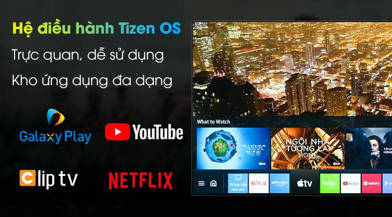 Tivi LED 4K Samsung UA55AU8100 - Tizen OS