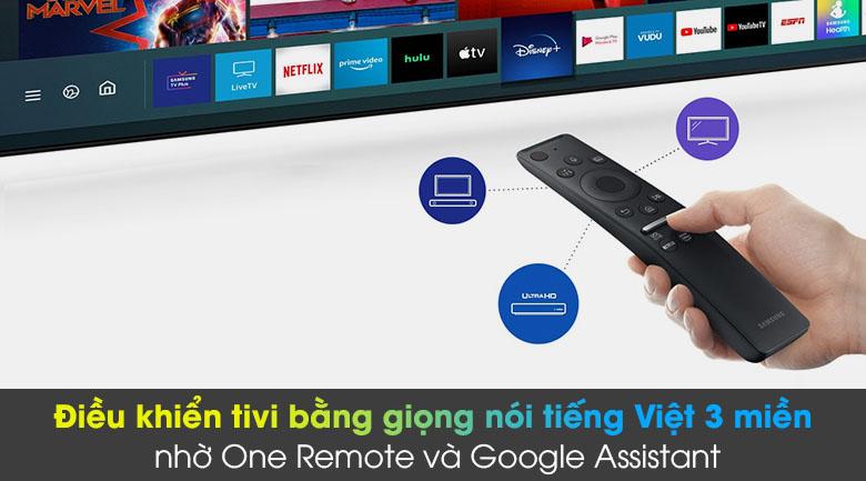 Tivi LED 4K Samsung UA55AU8100 - One Remote