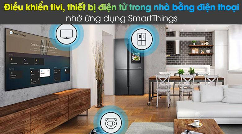 Tivi LED 4K Samsung UA55AU8100 - SmartThings
