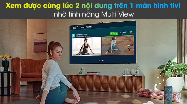 Tivi LED 4K Samsung UA55AU8100 - Multi View