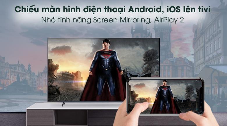 Airplay 2 - Smart Tivi Samsung 4K 60 inch UA60AU8100