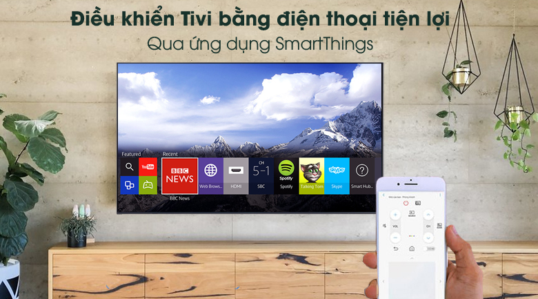 SmartThings - Smart Tivi Samsung 4K 60 inch UA60AU8100
