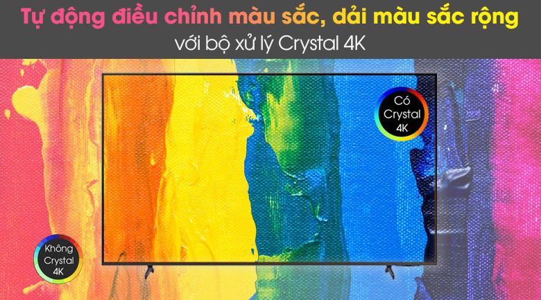 Bộ xử lý Crystal 4K - Smart Tivi Samsung 4K 65 inch UA65AU8100