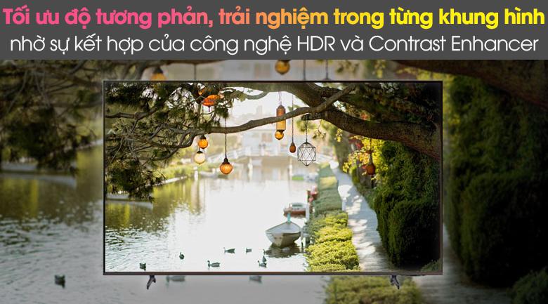 HDR và Contrast Enhancer - Smart Tivi Samsung 4K 65 inch UA65AU8100