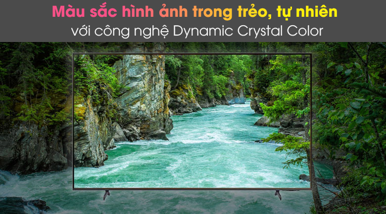 Dynamic Crystal Color - Smart Tivi Samsung 4K 65 inch UA65AU8100