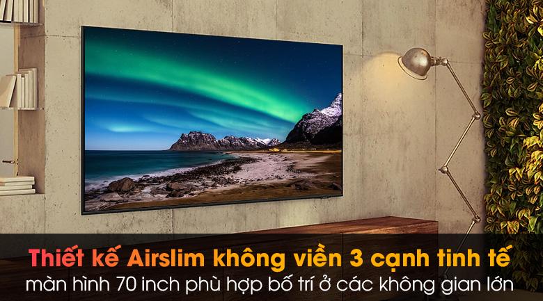 Smart Tivi Samsung 4K 70 inch UA70AU8100 - Trải nghiệm xem hoàn hảo với màn hình 70 inch không viền 3 cạnh
