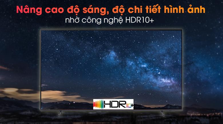 Smart Tivi Samsung 4K 70 inch UA70AU8100 - Cải thiện độ sáng, độ chi tiết hình ảnh qua công nghệ HDR10+