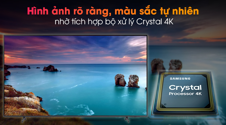 Smart Tivi Samsung 4K 70 inch UA70AU8100 - Hiển thị các sắc độ màu sắc chính xác hơn qua bộ xử lý Crystal 4K