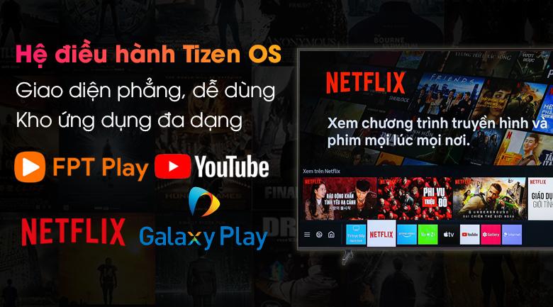 Smart Tivi Samsung 4K 70 inch UA70AU8100 - Giao diện trực quan, kho ứng dụng phong phú qua hệ điều hành Tizen OS