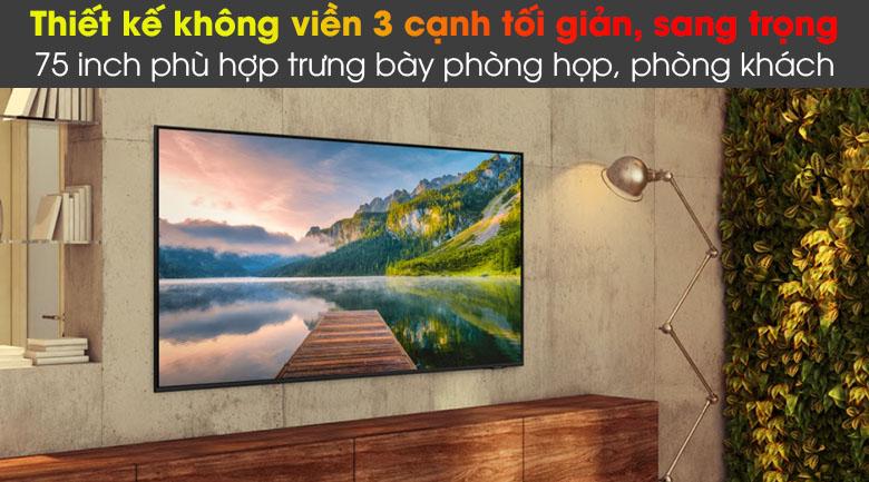 Tivi LED 4K Samsung UA75AU8100 - Thiết kế