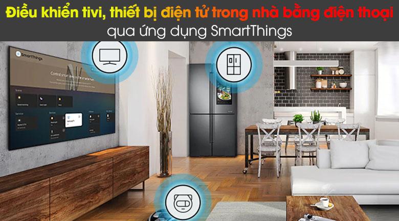 Tivi LED 4K Samsung UA75AU8100 - SmartThings
