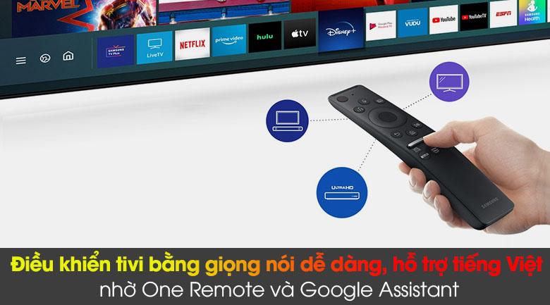 Tivi LED 4K Samsung UA75AU8100 - Remote