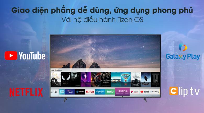 Tizen OS - Smart Tivi Samsung 4K 85 inch UA85AU8000
