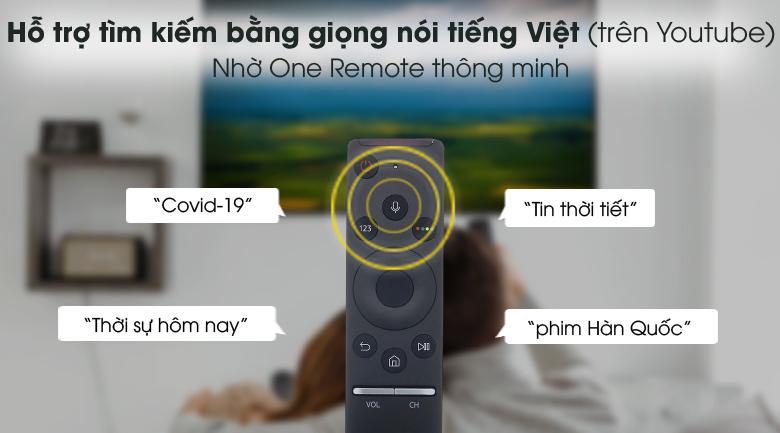 One Remote - Smart Tivi Samsung 4K 85 inch UA85AU8000
