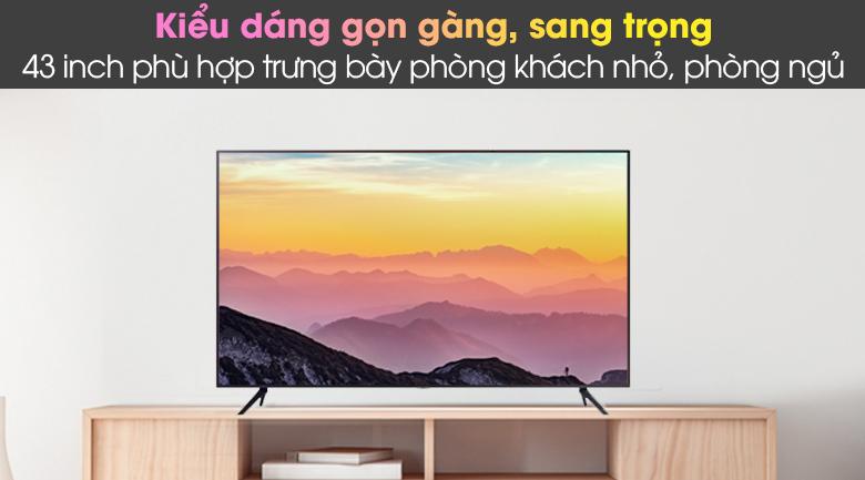 Thiết kế - Smart Tivi Samsung 4K 43 inch UA43AU7200