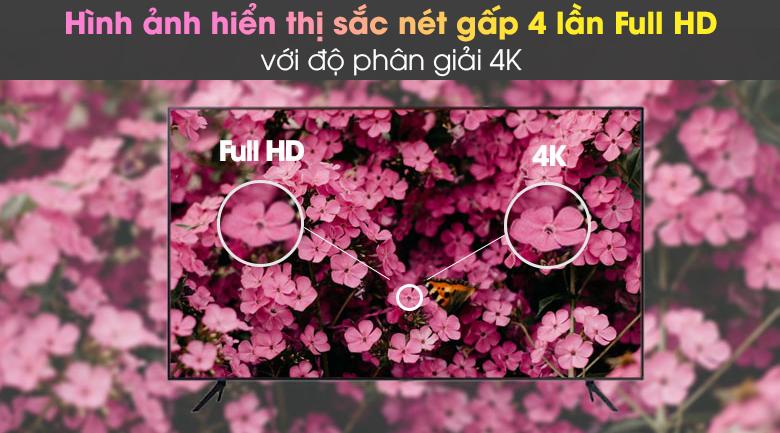 Độ phân giải 4K - Smart Tivi Samsung 4K 43 inch UA43AU7200