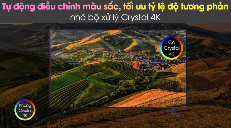 Bộ xử lý Crystal 4K - Smart Tivi Samsung 4K 43 inch UA43AU7200