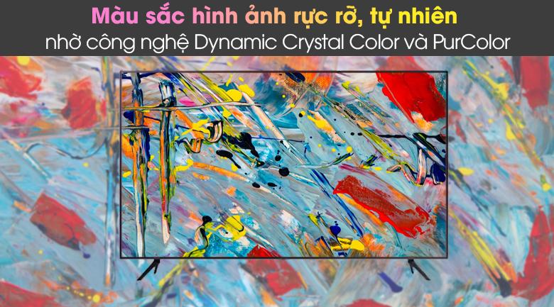 Dynamic Crystal Color và PurColor - Smart Tivi Samsung 4K 43 inch UA43AU7200