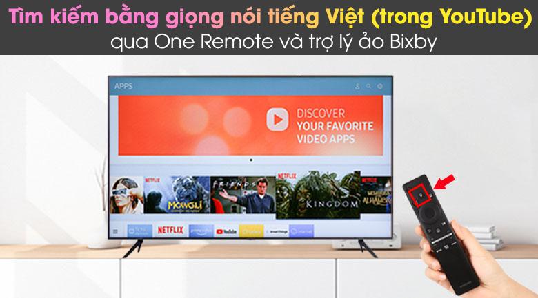 One Remote và trợ lý ảo Bixby - Smart Tivi Samsung 4K 43 inch UA43AU7200