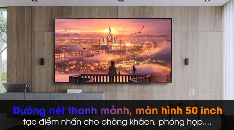 Smart Tivi Samsung 4K 50 inch UA50AU7200 - Kiểu dáng đơn giản, sang trọng với thiết kế không viền 3 cạnh