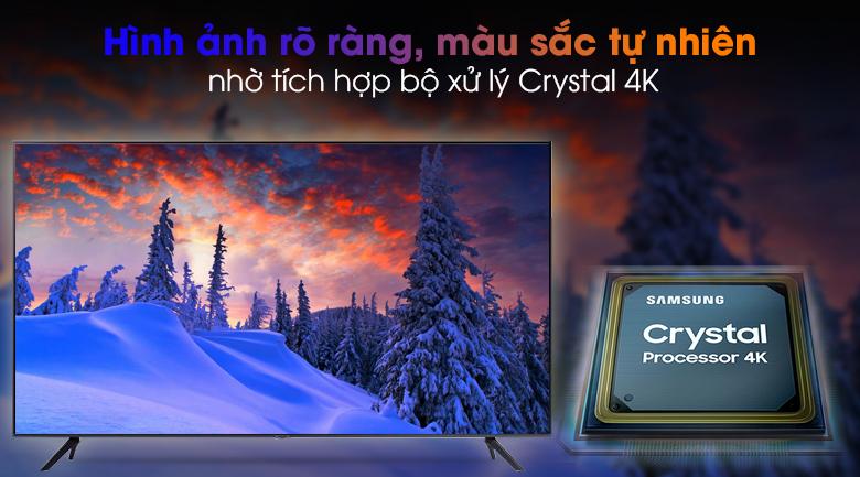 Smart Tivi Samsung 4K 50 inch UA50AU7200 - Nâng cao chất lượng hình ảnh, màu sắc rõ ràng hơn qua bộ xử lý Crystal 4K