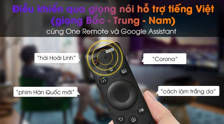 Smart Tivi Samsung 4K 50 inch UA50AU7200 - Tìm kiếm, điều khiển qua giọng nói hỗ trợ tiếng Việt 3 miền với One Remote và trợ lý ảo Google Assistant